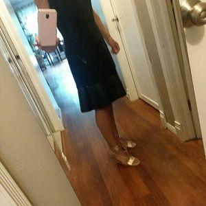Anne Taylor Black A line dress